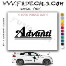Advanti  Aftermarket Logo Die Cut Vinyl Decal Sticker