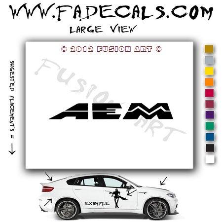 AEM Aftermarket Logo Die Cut Vinyl Decal Sticker