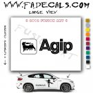 Agip Aftermarket Logo Die Cut Vinyl Decal Sticker