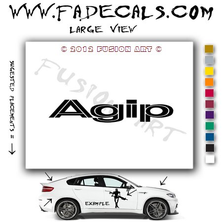 Agip 2 Aftermarket Logo Die Cut Vinyl Decal Sticker
