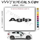 Agip 2 Aftermarket Logo Die Cut Vinyl Decal Sticker