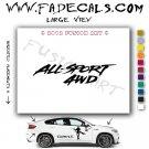 All Sport 4wd Aftermarket Logo Die Cut Vinyl Decal Sticker