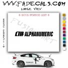 Alphanumeric Aftermarket Logo Die Cut Vinyl Decal Sticker