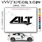 alt Aftermarket Logo Die Cut Vinyl Decal Sticker
