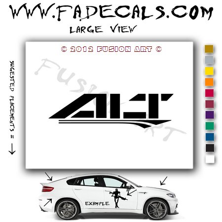 Alt 2 Aftermarket Logo Die Cut Vinyl Decal Sticker