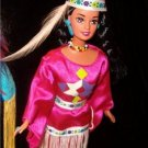 Native American Indian P BARBIE DOTW dolls of the world