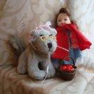 BARBIE LITTLE RED RIDDING HOOD wolf KELLY set lot dolls