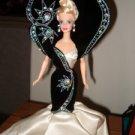 Diamond Dazzle Barbie 1997 Bob Mackie Jewel Essence BLACK WHITE FANCY GOWN