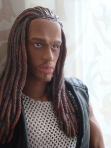 "Twilight Laran NUDE Long hair AFrican AMERICAN Ken 12"" Doll AA articulated"