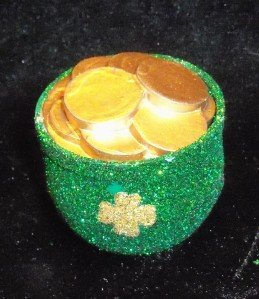 GREEN st patricks day POT OF GOLD BARBIE doll 1/6 scale small mini little