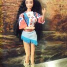 PINK top Native American INDIAN OOAK Barbie mocassins