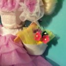 WHITE FLOWER BASKET GENUIN BARBIE size 1/6 DIORAMA prop