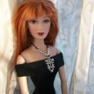 "SKULL Goth Handmade NECKLACE belt jewelry 16"" Ellowyne"