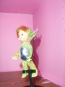 DINOSAUR TOMMY KELLY barbie doll in costume outfit HALLOWEEN FUN RARE HTF