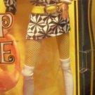 BARBIE POP outfit BELT set lot BLACK WHITE SHORT HIP dress MOD TALL boots