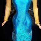 Ethinic Foreign Genuine BARBIE TEAL GOLD dress top