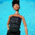 GLITTER UPDO African American Glamour chain BARBIE OOAK
