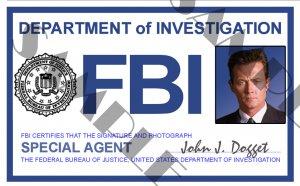 Special Doggett X4l123 Id Agent X-files Card template John