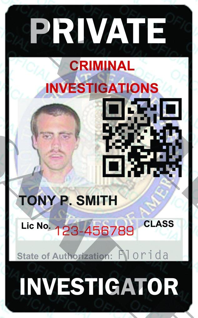 private investigator surveillance report template - custom private investigator id card template pi5321a
