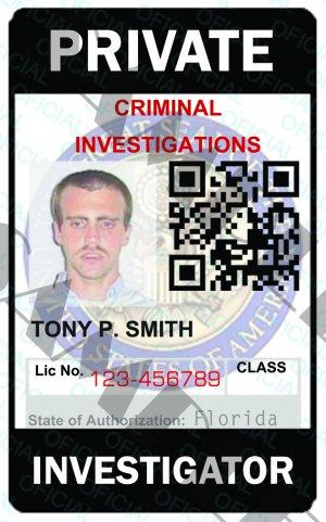 template Private Custom Id Card Investigator Pi5321a