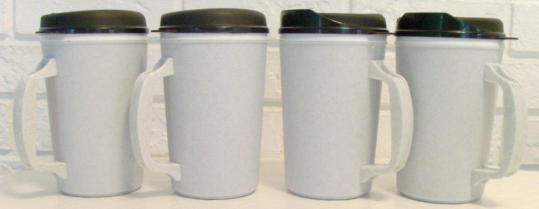 4 20 oz Granite Classic Thermo Serv Insulated Travel Mugs