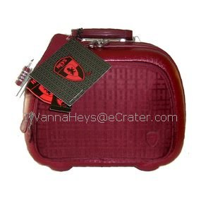Heys Signature Collection Beauty Case in Burgundy, NWT, Free Ship