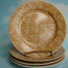 Set of 4 SANGO POTPOURRI GOLD CLOUD SALAD PLATES NEW - Sue Zipkin