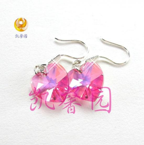 Swarovski Crystal heart shape earring(E-02)