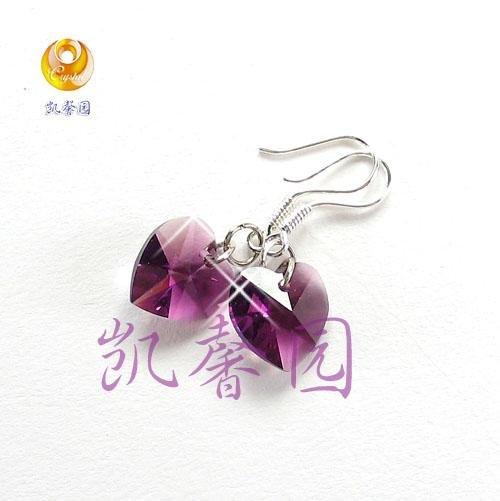 Swarovski Crystal heart shape earring(E-03)