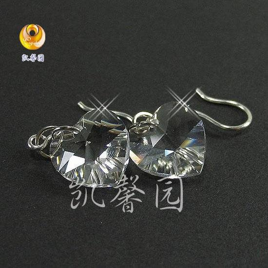 Swarovski Crystal heart shape earring(E-08)