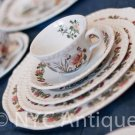 Country Meadow Plates by Adams China -- Set of 5 --FREE SHIPPING