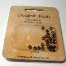 Corrugated Silvertone Crimp Beads