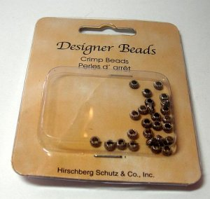 Corrugated Silvertone Crimp Beads