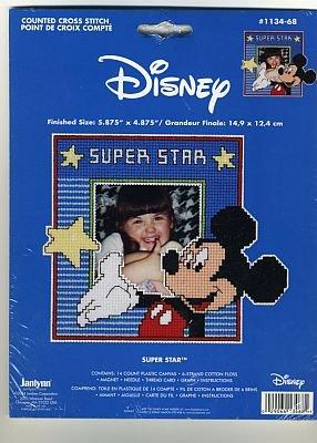 Janlynn Mickey Mouse Super Star Cross Stitch Frame Kit