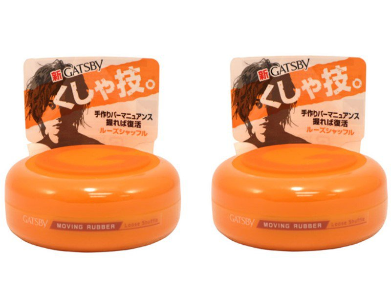 2PCs Lot Japan Gatsby Wax Hair Styling Moving Rubber Series Loose Shuffle 80g Free Shipping