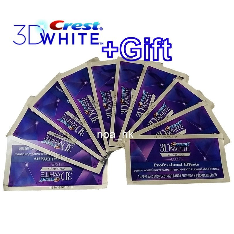 Crest 3D White Luxe Whitestrips Professional Effects20 Strips / 10 Pouches (Made in USA)