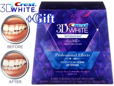 Crest 3d White Luxe Whitestrips Professional Effects 40 Strips 20