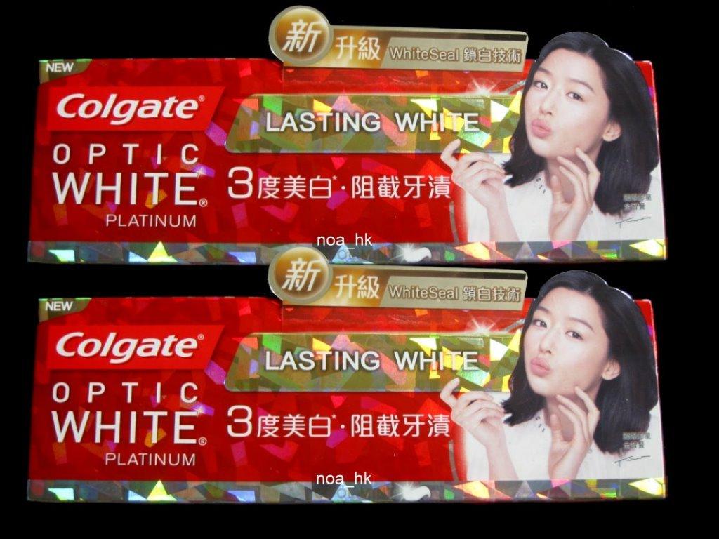 2X Colgate Optic White Platinum Cool Mint Flavor Lasting White Toothpaste 96g