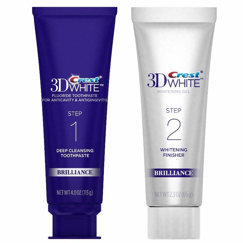 Crest 3D White Brilliance Deep Cleansing Toothpaste 113g & Whitening Gel 65g (No Box)
