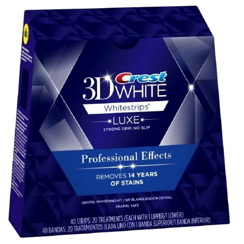 USA Crest 3D White Luxe Whitestrips Professional Effects 20 Pouches / Box