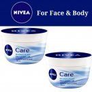 2X Nivea Intensive Care Cream 200ml For Face & Body