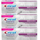 3X Crest 3D White Brilliance Mesmerizing Mint Teeth Whitening Toothpaste 116g