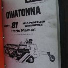 OWATONNA 81 Self Propelled Windrower parts catalog