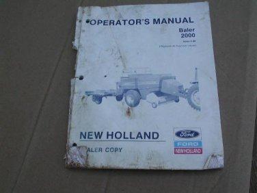 New Holland 2000 Baler Operators Manual