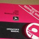 JD John Deere 3600 Drawn Mold Plow Operators Manual