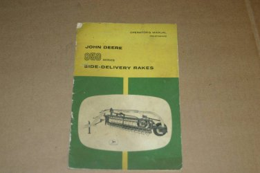 JD John Deere 850 Side Delivery Rake Operators Manual