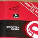 JD John Deere 1600 Integral Mold Plow Operators Manual