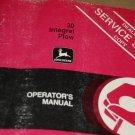 JD John Deere 30 Integral Plow Operators Manual