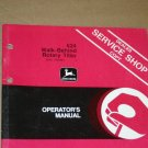 JD John Deere 624 Rotary Tiller  Operators Manual