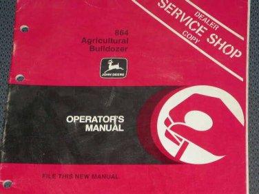 JD John Deere 864 Agri. Bulldozer Operators Manual